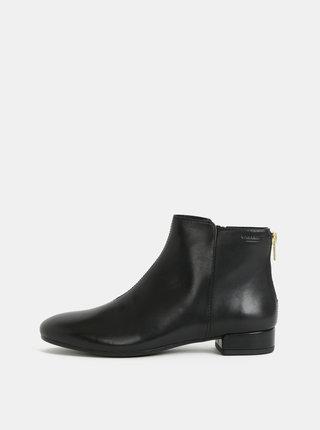 Černé dámské kožené kotníkové boty Vagabond Suzan