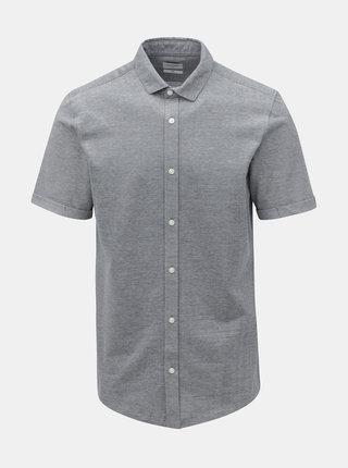 Modrá melírovaná slim fit košeľa ONLY & SONS Cuton