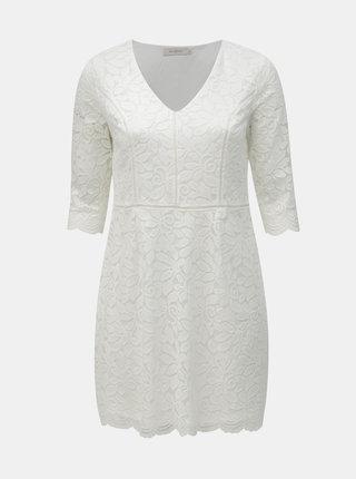 Bílé krajkové šaty ONLY CARMAKOMA Samant