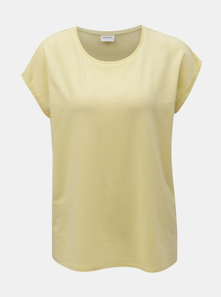 Tricou basic galben AWARE by VERO MODA Plain