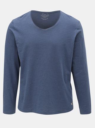 Modré basic tričko Jack & Jones Birch