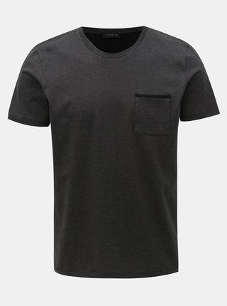 Tmavosivé tričko s náprsným vreckom Selected Homme Poe