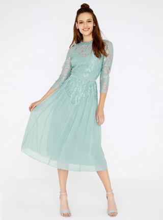 Zelenomodré krajkové šaty Little Mistress