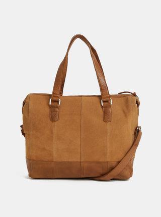 Hnedá semišová kabelka Pieces Baya