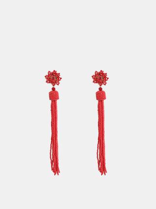 Červené korálkové náušnice Pieces Bea