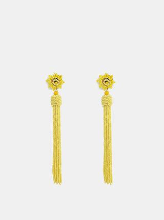 Žlté korálkové náušnice Pieces Bea