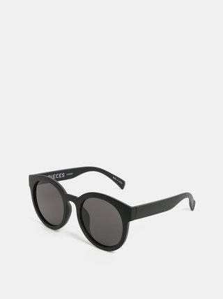 Černé sluneční brýle Pieces Beate