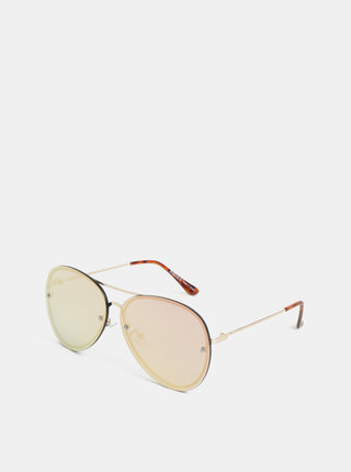 Slnečné okuliare v zlatej farbe Pieces Becki