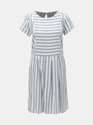 Bielo–modré pruhované šaty Brakeburn Woven