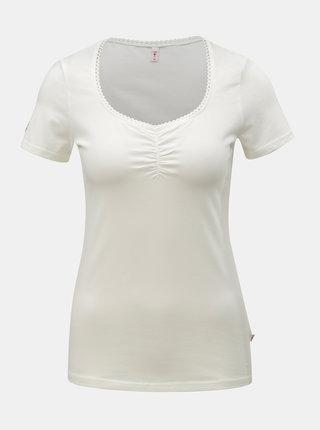 Bílé tričko Blutsgeschwister Logo