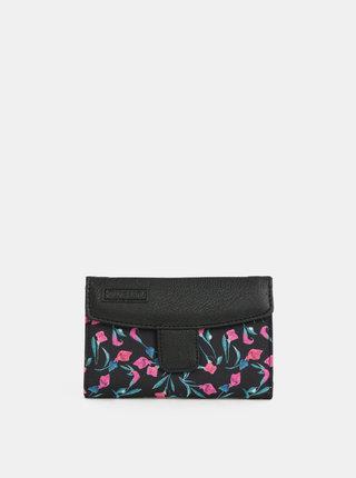 Čierna dámska kvetovaná peňaženka Meatfly Needle