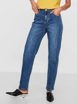 Modré straight džíny s vysokým pasem Noisy May Liv