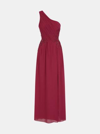 Vínové šaty s krajkou na bocích Little Mistress