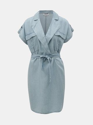 Světle modré džínové košilové šaty Noisy May Vera