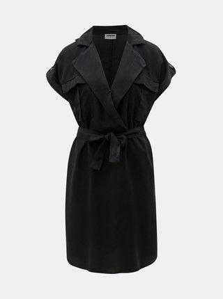 Černé košilové šaty Noisy May Vera