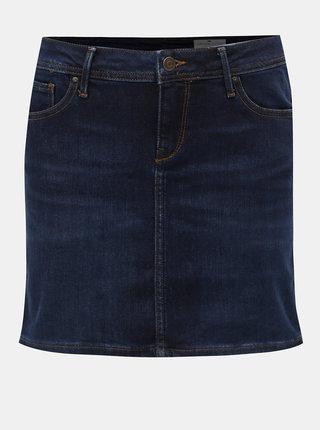 Tmavě modrá džínová minisukně Cross Jeans Martha