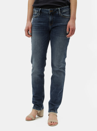 Tmavomodré dámske regular fit rifle Cross Jeans Rose