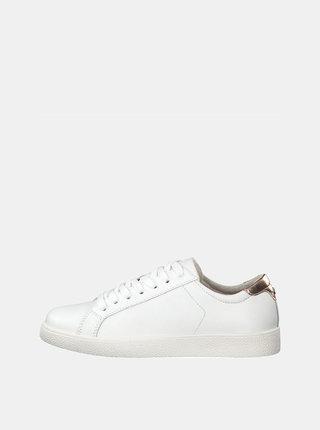 Biele kožené tenisky Tamaris Rombo