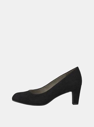Pantofi negri cu aspect de piele intoarsa Tamaris Caxias