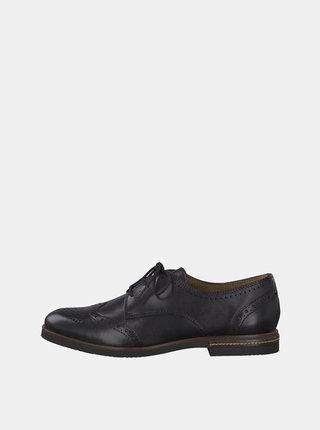 Pantofi brogue negri din piele Tamaris Vanni