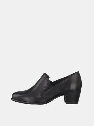 Pantofi negri din piele Tamaris Oceana