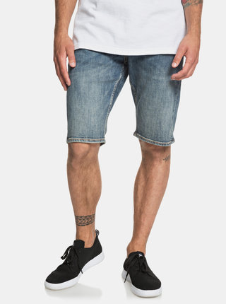 Pantaloni scurti albastri regular fit din denim Quiksilver