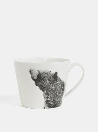 Biely porcelánový hrnček s motívom medveďa Maxwell & Williams