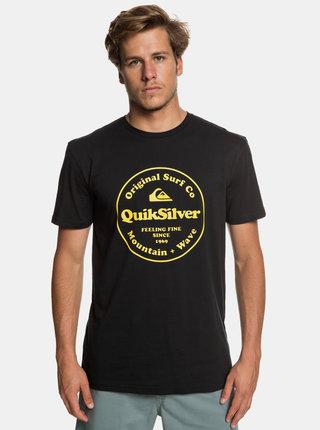 Černé regular fit tričko s potiskem Quiksilver
