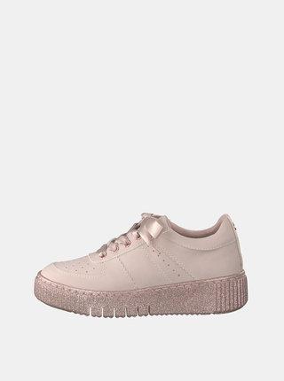 Pantofi sport roz prafuit cu platforma Tamaris Haty