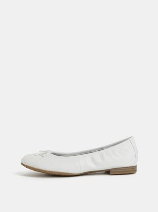 Biele kožené baleríny Tamaris Alena