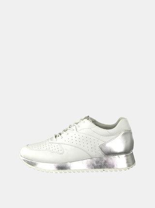 Pantofi sport albi din piele Tamaris Diva