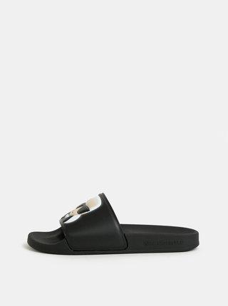 Černé pantofle KARL LAGERFELD Kondo