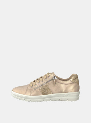 Pantofi sport roz deschis cu aspect metalic Tamaris Pepai