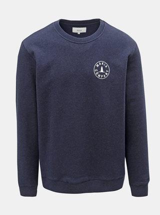 Bluza sport barbateasca albastru inchis Makia Company