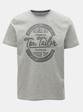 Tricou barbatesc gri melanj Tom Tailor
