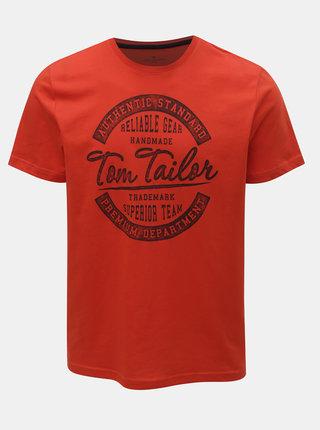 Tricou barbatesc rosu Tom Tailor