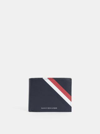 Tmavomodrá pánska kožená peňaženka Tommy Hilfiger