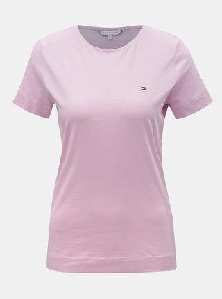 Růžové dámské basic tričko Tommy Hilfiger Tessa