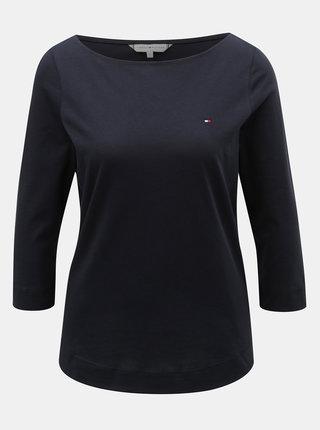 Tmavomodré dámske basic tričko Tommy Hilfiger Tessa