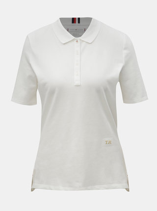 Biele dámske basic tričko Tommy Hilfiger Essential