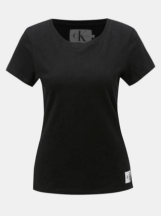 Černé dámské tričko s nášivkou Calvin Klein Jeans