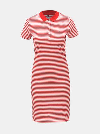 Bílo-červené pruhované slim fit šaty Tommy Hilfiger New Chiara