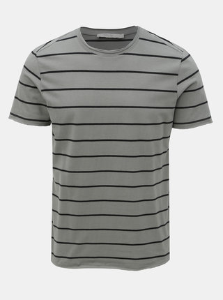 Tricou basic gri in dungi Jack & Jones Matrick