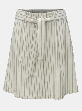Krémová pruhovaná sukňa s vreckami VILA Pintri