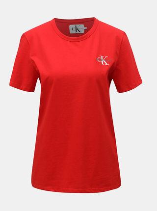 Červené dámské tričko Calvin Klein Jeans