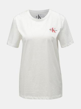 Biele dámske tričko Calvin Klein Jeans