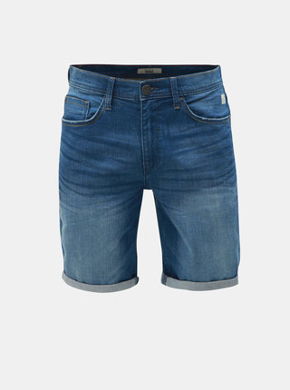 Pantaloni scurti albastri slim fit din denim Blend