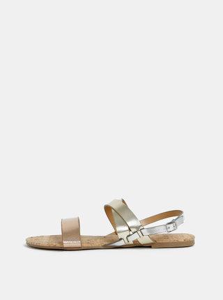 Sandály ve zlaté barvě Dorothy Perkins