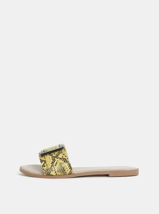 Žluté pantofle s hadím vzorem Dorothy Perkins