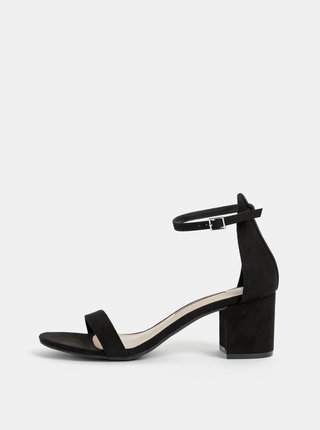 Čierne sandále v semišovej úprave Dorothy Perkins